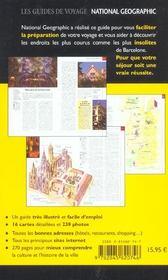 Barcelone - 4ème de couverture - Format classique