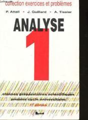 Analyse t.1 ex et problemes resolus 1ere annee - Couverture - Format classique