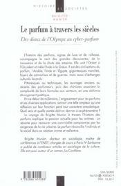 Le Parfum Des Siecles - 4ème de couverture - Format classique