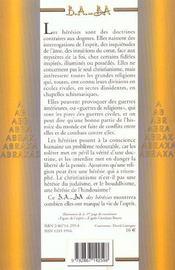 Herésies - 4ème de couverture - Format classique