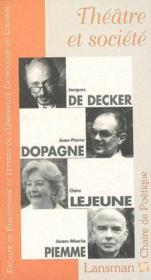 Theatre et societe - Couverture - Format classique
