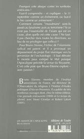 Les Amants De L'Apocalypse ; Cles Pour Comprendre Le 11 Septembre - 4ème de couverture - Format classique