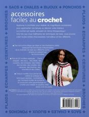 Accessoires Faciles Au Crochet - 4ème de couverture - Format classique