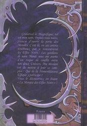 La menace des elfes noires - 4ème de couverture - Format classique