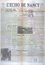Echo De Nancy (L') N°1004 du 03/09/1943 - Couverture - Format classique