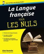 La langue française pour les nuls - Couverture - Format classique