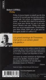 Philby ; portrait de l'espion en jeune homme - 4ème de couverture - Format classique