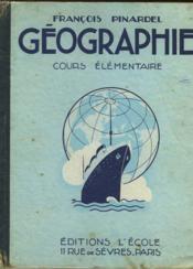 Geographie - Cours Elementaires - Couverture - Format classique