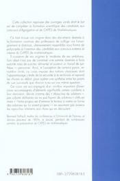 Geometrie Elementaire Cours Et Exercices Maths Capes Agreg - 4ème de couverture - Format classique