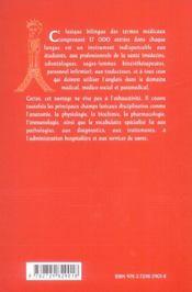 Lexique des termes médicaux ; anglais-francais/francais-anglais - 4ème de couverture - Format classique