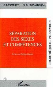 Separation Des Sexes Et Competences - Intérieur - Format classique