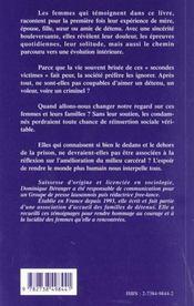 Mere ; Femme ; Fille ; Soeur ; Amie De Detenu ; Temoignages - 4ème de couverture - Format classique
