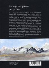 Au pays des pierres qui parlent ; évocation d'un voyage dans l'himalaya ; du mont kailash à kathmandu - 4ème de couverture - Format classique