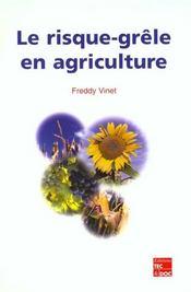 Le risque-grele en agriculture - Intérieur - Format classique