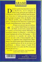 La Recherche Du Temps Perdu T.3 ; A L'Ombre Des Jeunes Filles En Fleurs - 4ème de couverture - Format classique