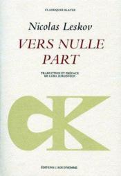 Vers nulle part - Couverture - Format classique