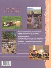 Les oies et les canards - 4ème de couverture - Format classique