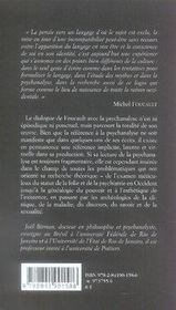 Foucault et la psychanalyse - 4ème de couverture - Format classique