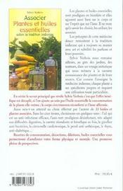Associer Plantes Et Huiles Essentielles - 4ème de couverture - Format classique