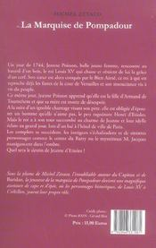 Marquise De Pompadour (La) T1 - 4ème de couverture - Format classique
