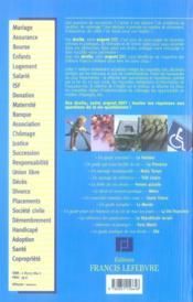 Memento Pratique ; Vos Droits, Votre Argent (Edition 2007) - 4ème de couverture - Format classique