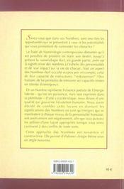 Traite de numerologie contemporaine ; l'alchimie des nombres et des lettres - 4ème de couverture - Format classique