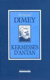 Kermesses d'Antan - Couverture - Format classique