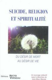 Suicide, religion et spiritualité - Intérieur - Format classique