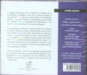 Cheri, Parle-Moi - 4ème de couverture - Format classique