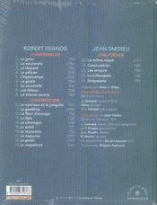 Chantefables chantefleurs - 4ème de couverture - Format classique