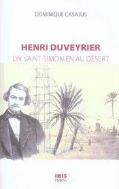 Henri duveyrier, un saint-simonien au désert - Intérieur - Format classique