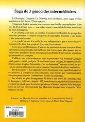 Bretagne Libre ; Saga De 3 Genocides Intermediaires - 4ème de couverture - Format classique