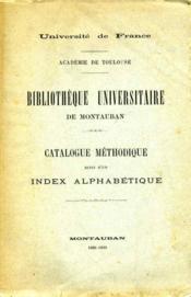 Catalogue méthodique, suivi d'un index alphabétique. - Couverture - Format classique