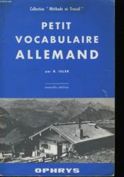 Petit Vocabulaire Allemand - Couverture - Format classique