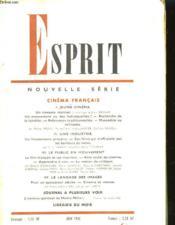 Esprit - Cinema Francais - Couverture - Format classique