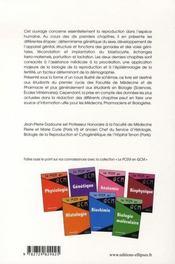 Biologie de la reproduction humaine - 4ème de couverture - Format classique