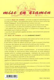 Le Croquis De Geographie Au Baccalaureat - 4ème de couverture - Format classique