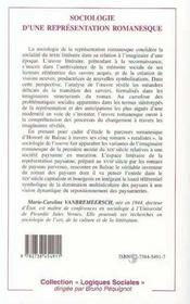 Sociologie D'Une Representation Romanesque ; Les Paysans Dans Cinq Romans Balzaciens - 4ème de couverture - Format classique