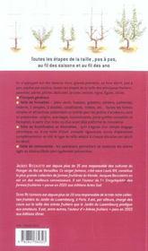 Taille Des Arbres Fruitiers - 4ème de couverture - Format classique