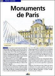 Monuments de Paris - Couverture - Format classique