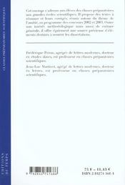 L'amitié ; résumé : textes et corrigés ; classes prépas scientifiques - 4ème de couverture - Format classique