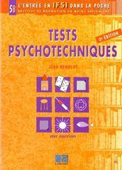 Tests psychotechniques 2 eme edition t5b - Intérieur - Format classique