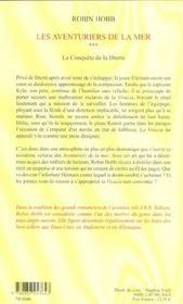 Les aventuriers de la mer t.3 ; conquête de la liberté - 4ème de couverture - Format classique