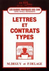 Lettres Et Contrats Types - Couverture - Format classique