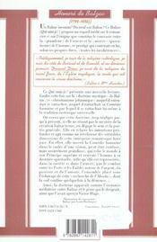 Balzac - 4ème de couverture - Format classique