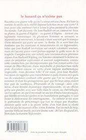Hasard Ca N'Existe Pas (Le) - 4ème de couverture - Format classique