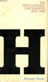 EN FEUILLEUTANT L'HUMANITE 1904-1964. supplement de l'Humanite n°6.070. - Couverture - Format classique