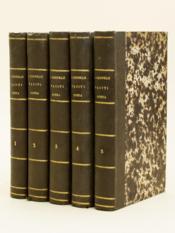 Caius Cornelius Tacitus, cum selectis variorum interpretum notis, ex postrema editione Jer. Jac. Oberlini, curante P. F. de Calonne (5 Tomes - Complet) - Couverture - Format classique