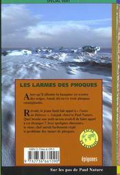 Les Larmes Des Phoques - 4ème de couverture - Format classique