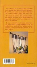 Rideaux et stores - 4ème de couverture - Format classique